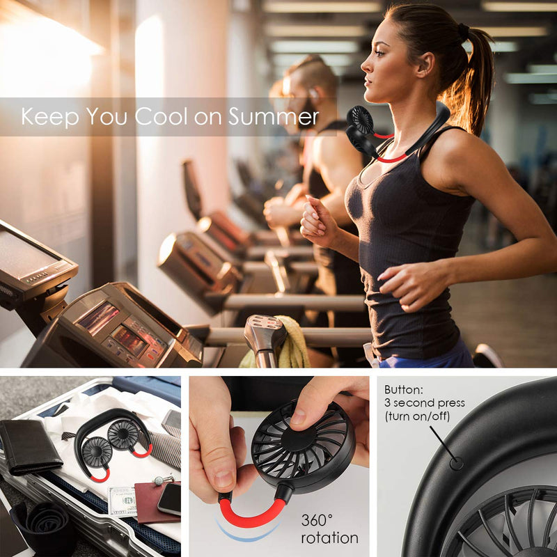 Hands Free Sport Portable Fan