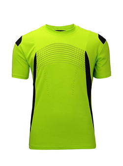 ZITY Men's Fitness Running Shirts Lightweight Short Sleeved Tee(Green,2XL)