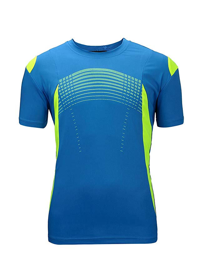 ZITY Men's  Dry-Fit Moisture Wicking Tee(Blue,2XL)