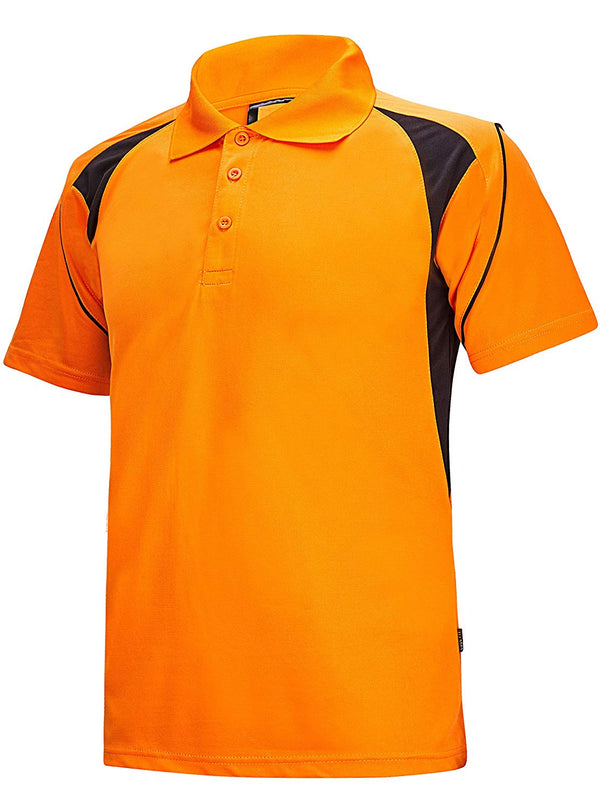 ZITY Dri Fit Shirt Quick-Dry Sweat-Wicking Sports Golf Tennis T-Shirt, Red,blue,orange, Small