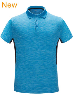 ZITY Men's Polo Shirt Cool Quick-Dry Sweat-Wicking Color Block Short Sleeve Sports Golf Tennis T-Shirt£¬XXL