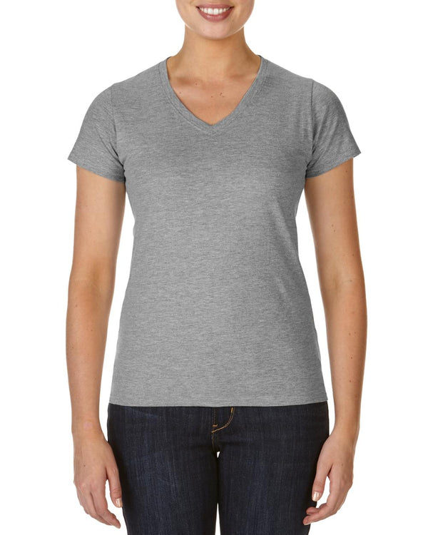 V-neck Cotton Women's Sport T-shirt,XL