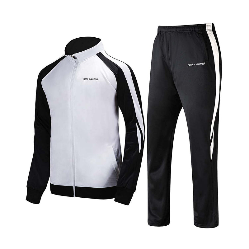 Geek Lighting Mens Athletic 2 Piece Track Suits Set 3