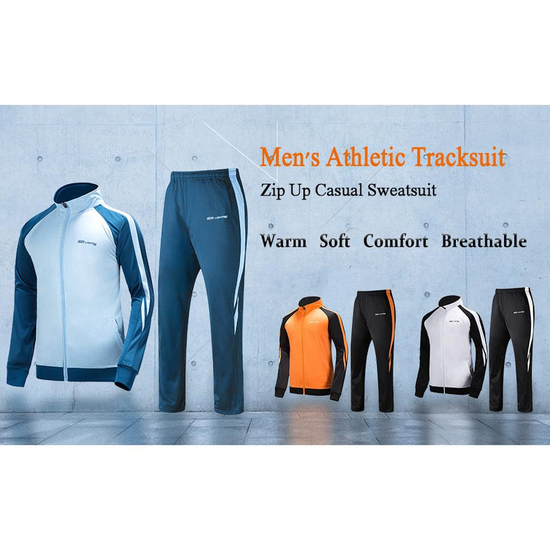 Geek Lighting Mens Athletic 2 Piece Track Suits Set 10