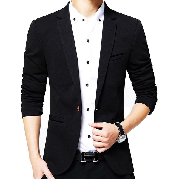 Geek Lighting Slim Fit Single One Button Blazer Jackets For Men 1