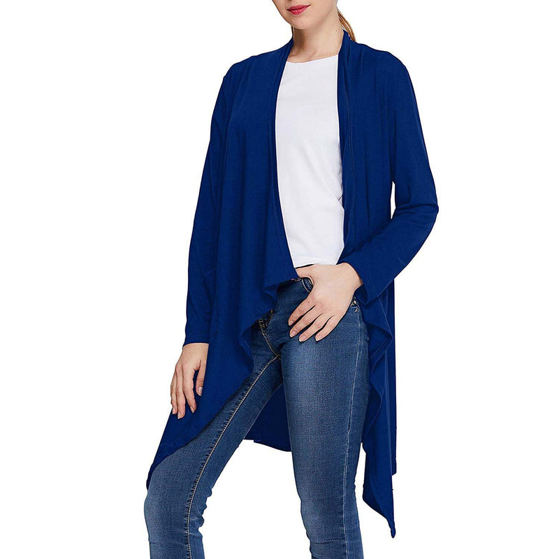 Geek Lighting Womens Solid Color Cardigan Sweaters Open-Front Casual Drape Long Sleeve 8