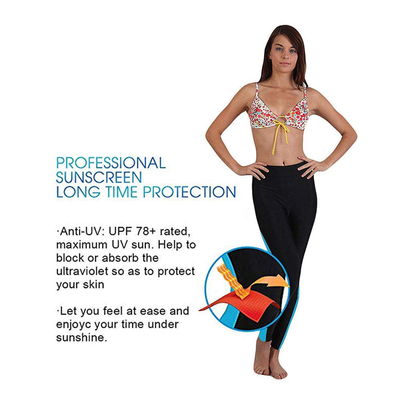 Geek Lighting Womens Wetsuit Pants Uv Protective Surfing Tights Board Diving Canoing Pants 11