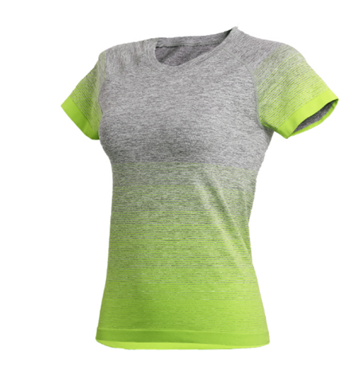 Women's gradient sport T-shirt,L