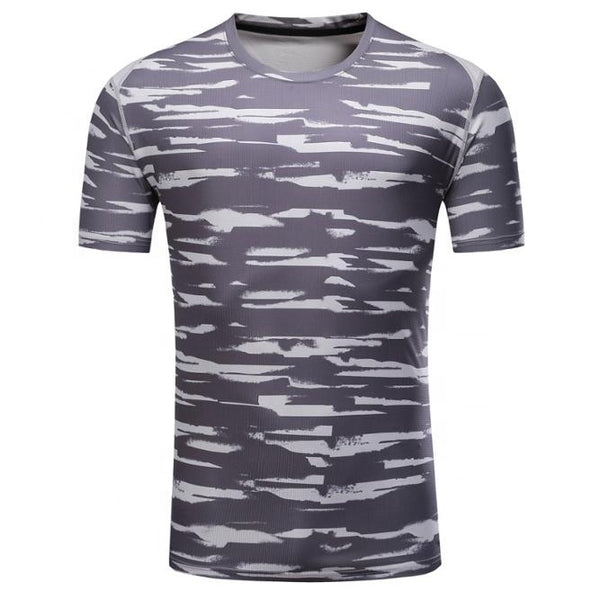 Latest high quality camouflage clothing polyester fibre tighten T shirt for sport,2XL