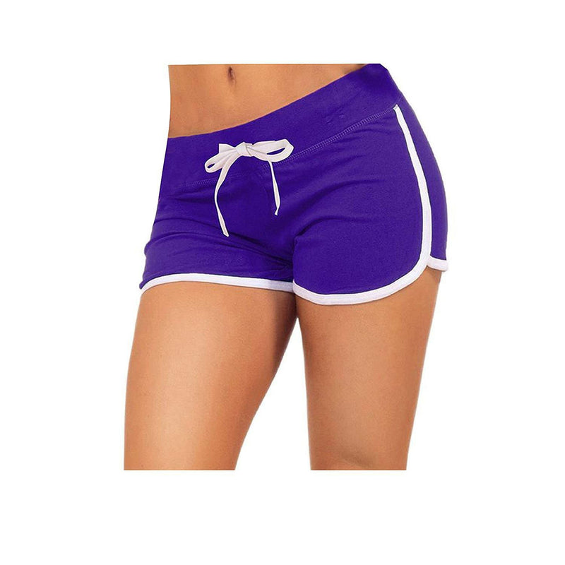 Little Beauty Womens Yoga Elastic Waist Running Athletic Shorts 10