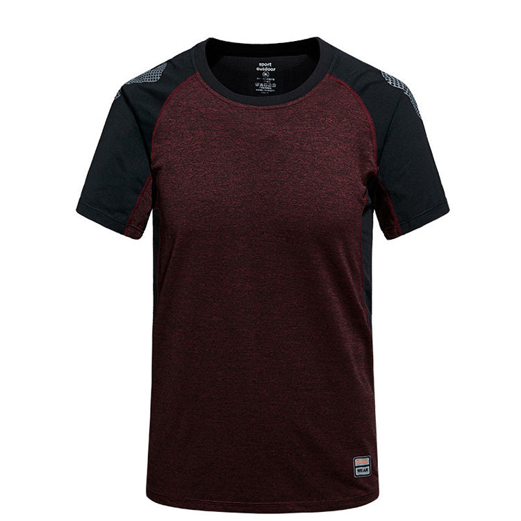 Men's sports t-shirt patterns sublimation new design sports t shirts, sports t-shirt for men,wine red,2XL