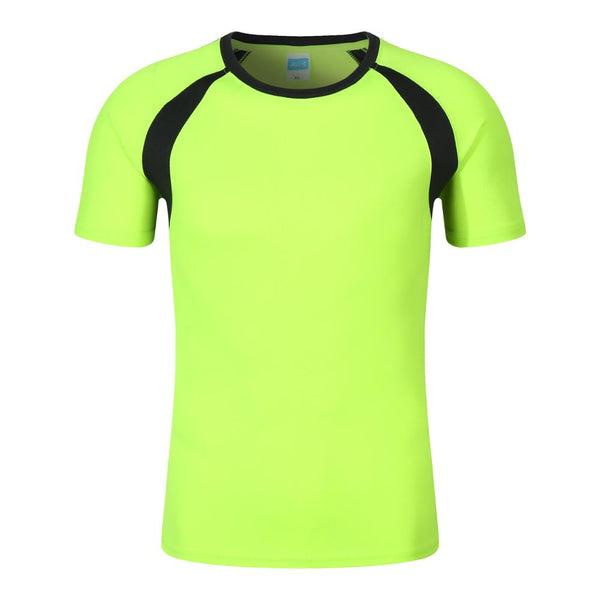 New wholesale 100% polyester sport dryfit tshirt,GREEN ,3XL