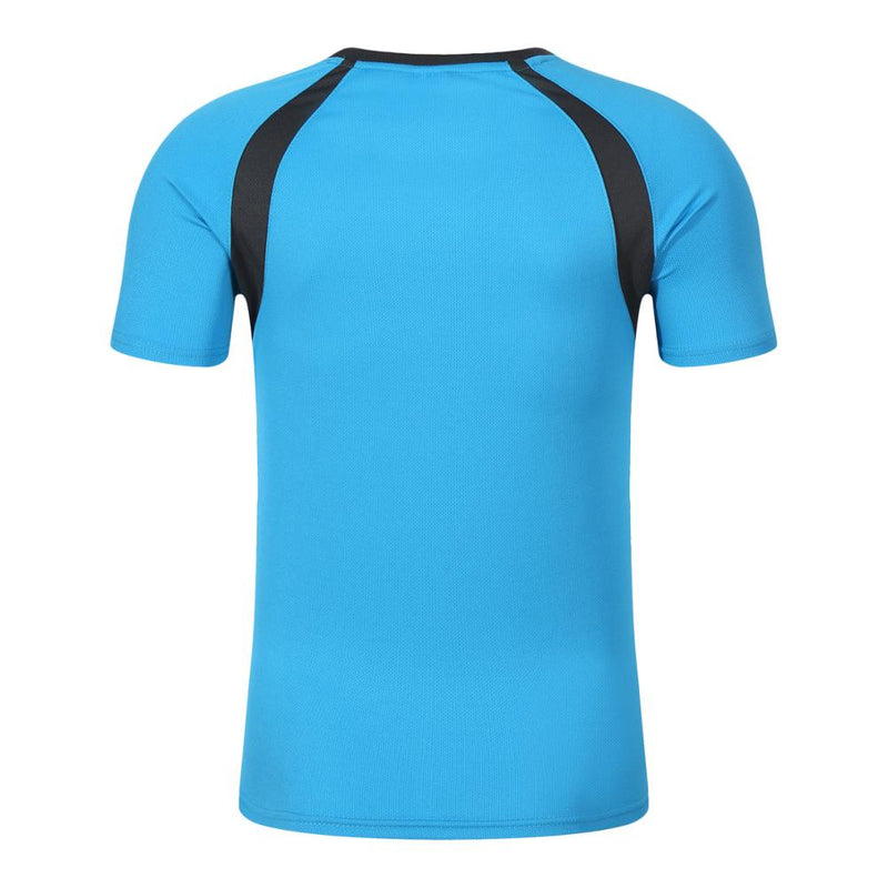 New wholesale 100% polyester sport dryfit tshirt,blue,3XL