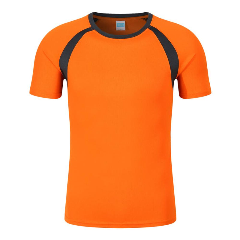 New wholesale 100% polyester sport dryfit tshirt,orange,2XL