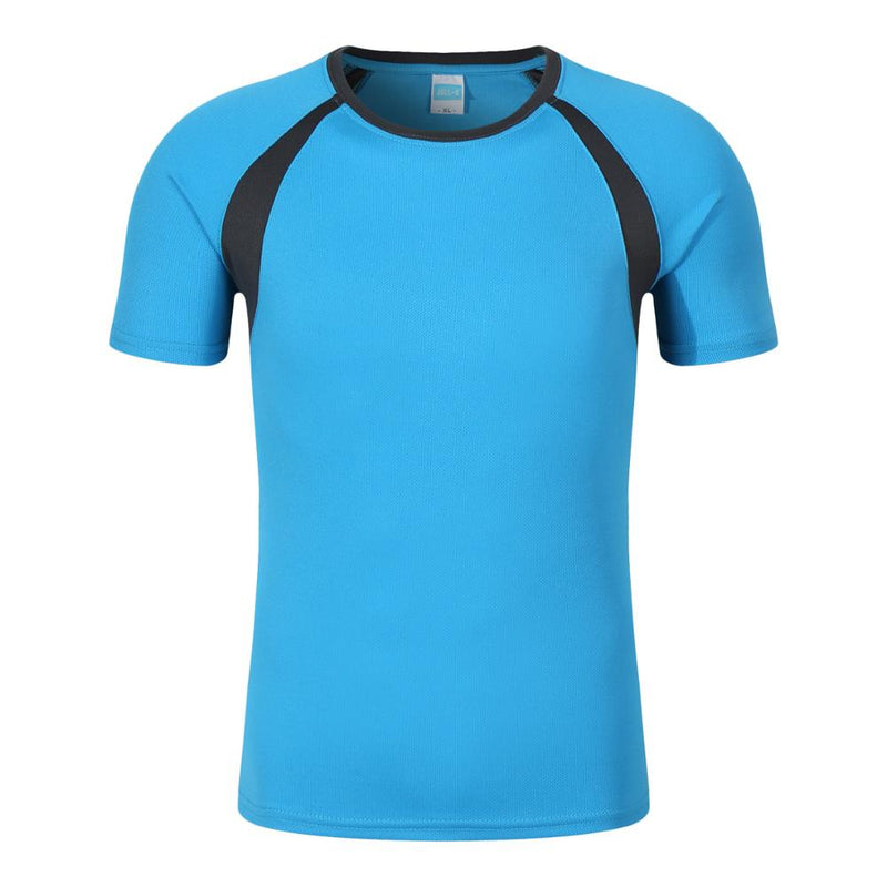 New wholesale 100% polyester sport dryfit tshirt,blue,2XL