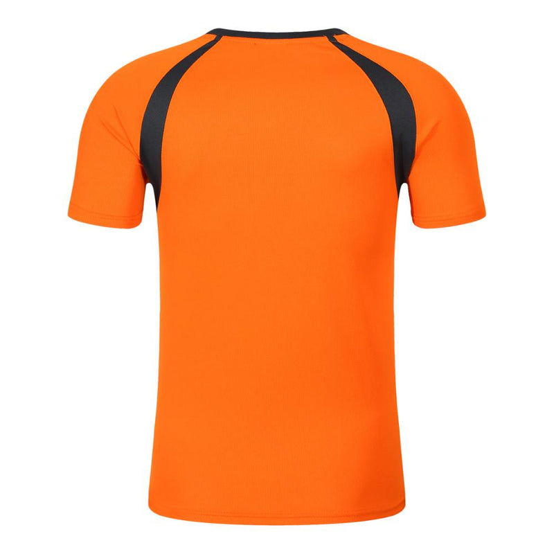 New wholesale 100% polyester sport dryfit tshirt,orange,3XL