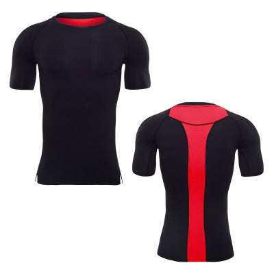 Factory Clothing Trainings Fitness Sport T-Shirt Customized Men Running T Shirts,black-red,3XL