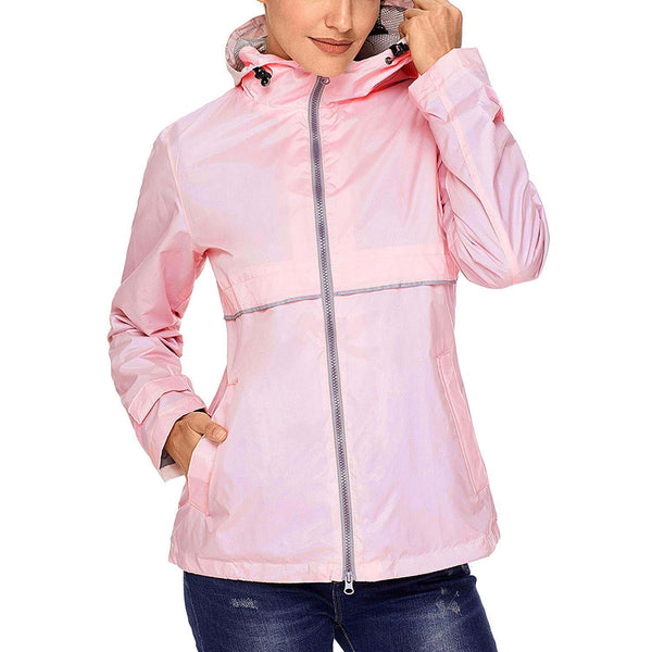 Swisswell Rain Jacket Women Waterproof Lightweight Hooded Raincoat Lined Rainwear 2