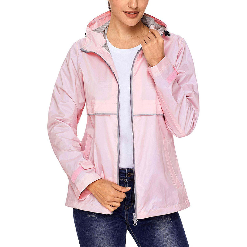 Swisswell Rain Jacket Women Waterproof Lightweight Hooded Raincoat Lined Rainwear 3