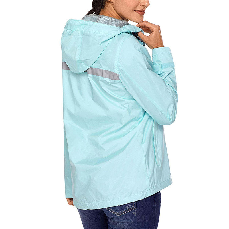 Swisswell Rain Jacket Women Waterproof Lightweight Hooded Raincoat Lined Rainwear 4