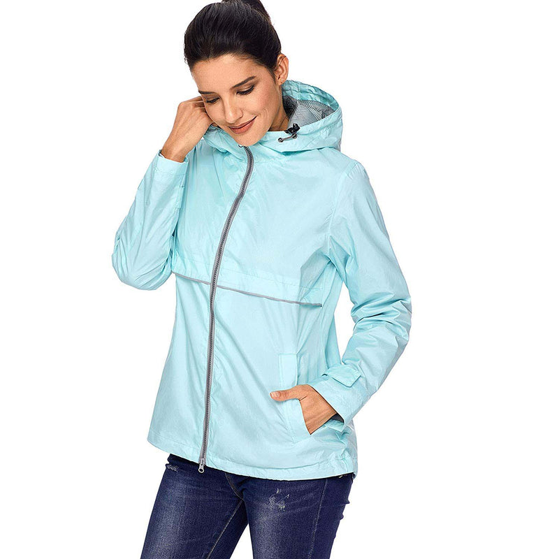 Swisswell Rain Jacket Women Waterproof Lightweight Hooded Raincoat Lined Rainwear 5