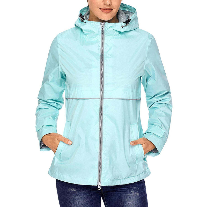 Swisswell Rain Jacket Women Waterproof Lightweight Hooded Raincoat Lined Rainwear 6