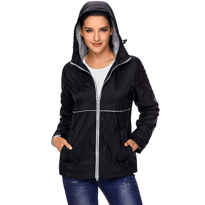 Swisswell Rain Jacket Women Waterproof Lightweight Hooded Raincoat Lined Rainwear 7