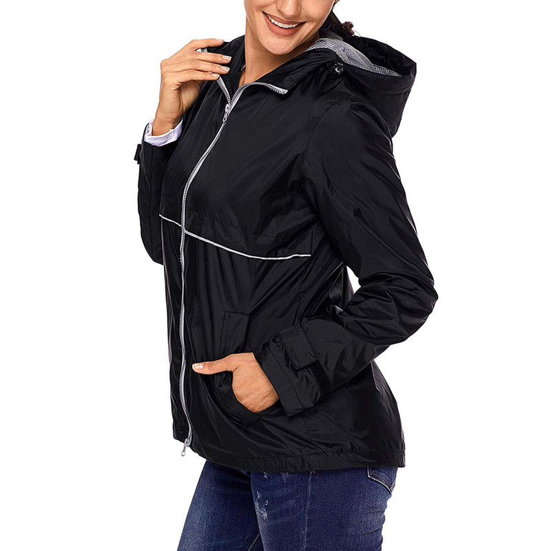 Swisswell Rain Jacket Women Waterproof Lightweight Hooded Raincoat Lined Rainwear 8