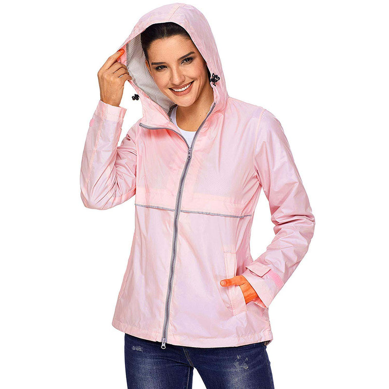 Swisswell Rain Jacket Women Waterproof Lightweight Hooded Raincoat Lined Rainwear 1