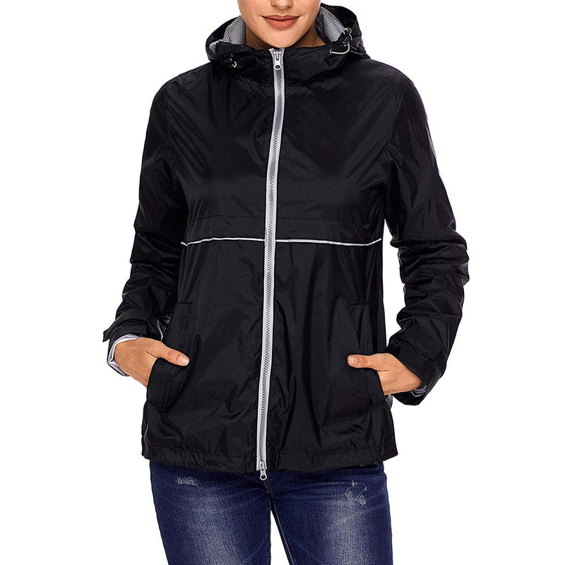 Swisswell Rain Jacket Women Waterproof Lightweight Hooded Raincoat Lined Rainwear 9