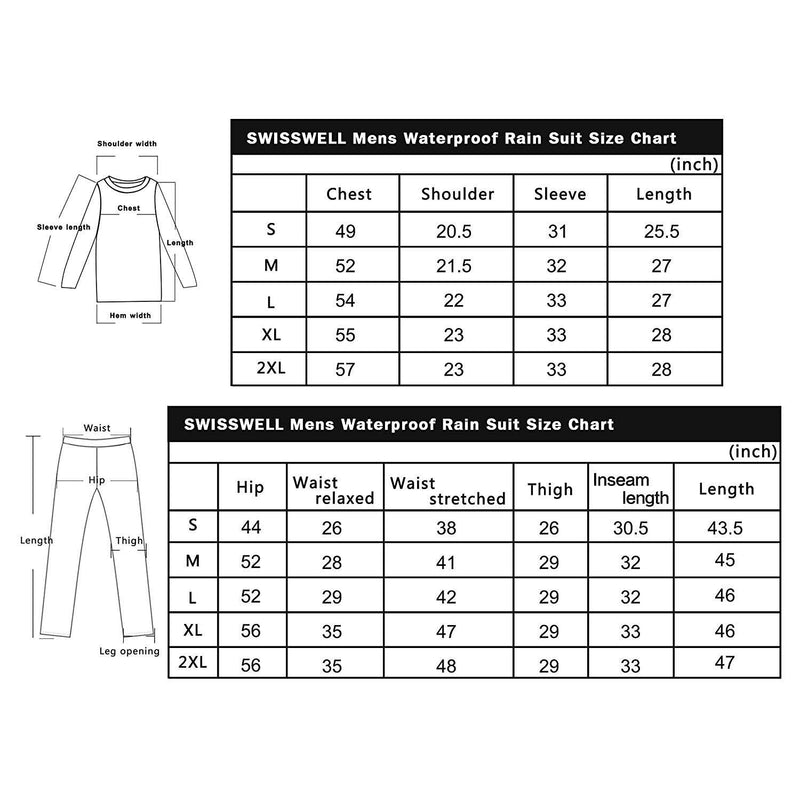 Swisswell Rain Suit For Men Waterproof Hooded Rainwear 5
