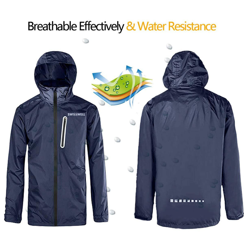 Swisswell Rain Suit For Men Waterproof Hooded Rainwear 6