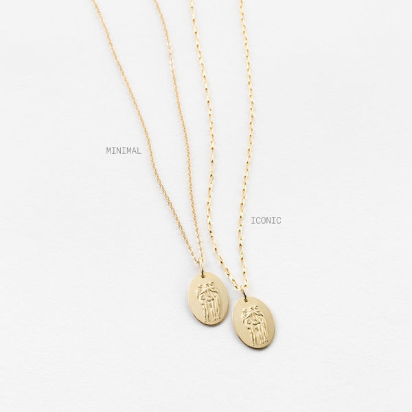 GLDN The 3 Graces myth collaboration chain necklace