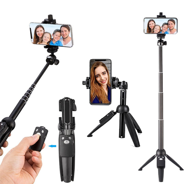 Tripods Selfie Stick Bluetooth Remote Handheld Monopod Self bastone selfy stik for iphone 6 7 8 plus x IOS Android