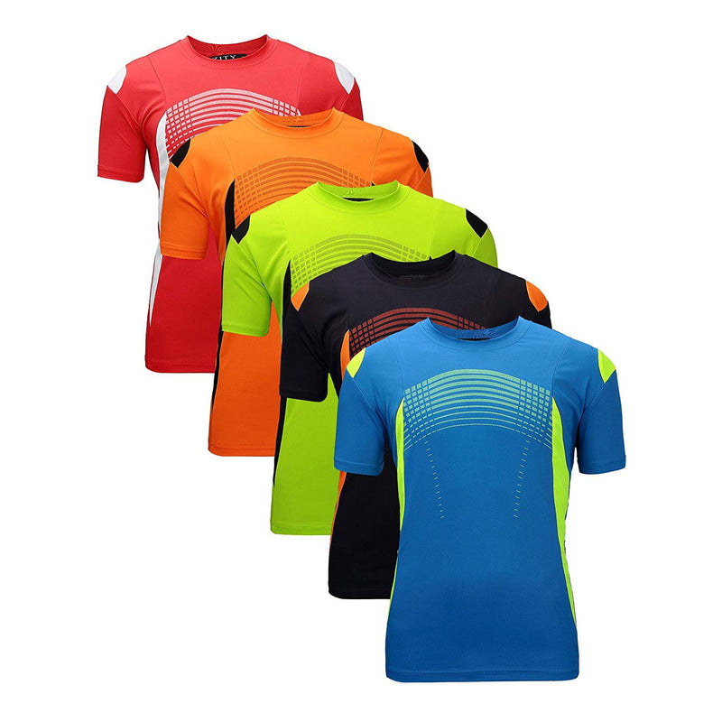 ZITY Athletic T-Shirt Sportswear Men's 100% Polyester Moisture-Wicking Training Short-Sleeve Quick Dry T-Shirt 15