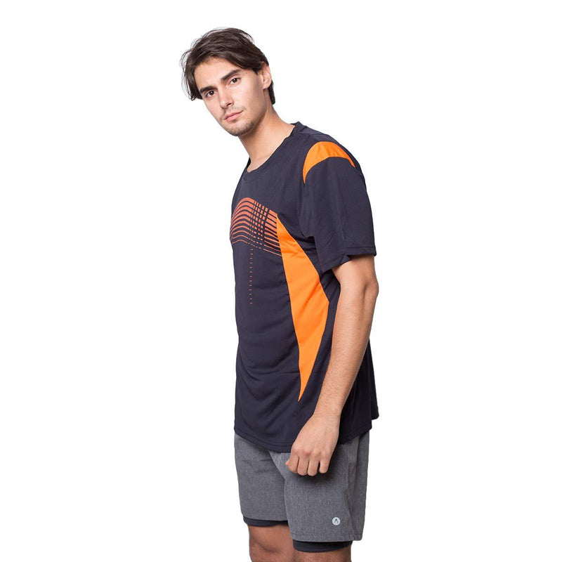 Men's Quick Dry Polo Shirts Short Sleeve Athletic Slim Fit  Button Neck TShirts