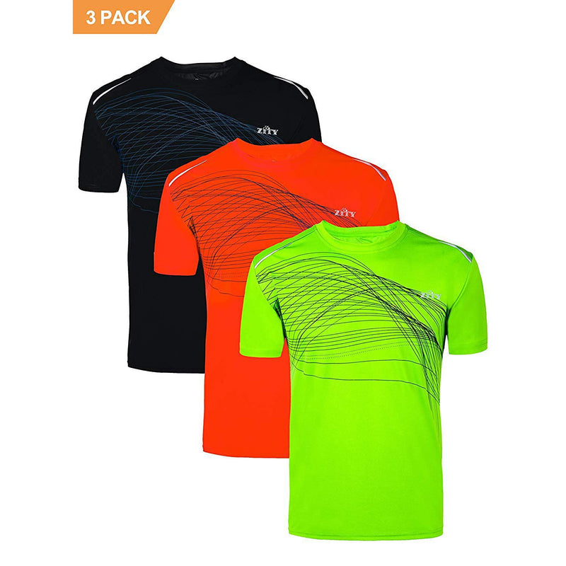 ZITY Athletic T-Shirt Sportswear Men's 100% Polyester Moisture-Wicking Training Short-Sleeve Quick Dry T-Shirt 7