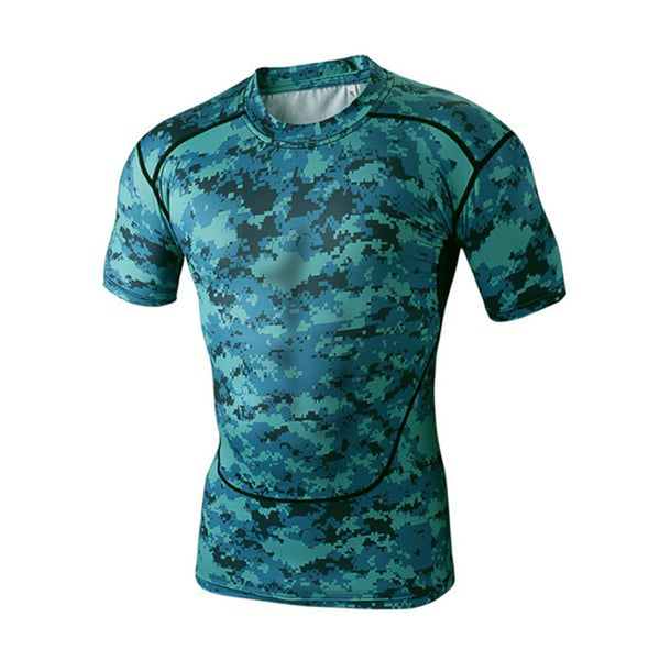 spandex sport shirt sublimation compression tshirt,2XL