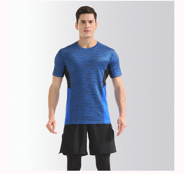 man bodyfit fitness breathable quick dry gym sport t shirt,2XL