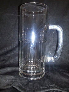 Glass Beer Mug Lager Stein 22 oz