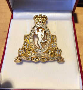 Brooch Pin Gold Plated RCCS Crest