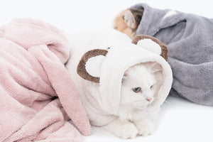 Animal hood towel . rabbit