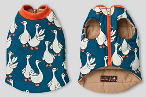 Flying Duck Reversible Padding Jacket . Blue