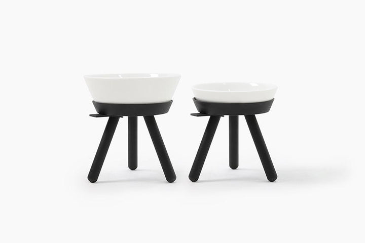 Oreo Table . Tall . Black & White