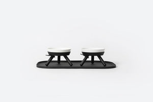 Oreo Table . Short Mini . Black & White