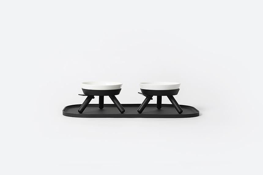 Oreo Table . Short . Black & White . Small