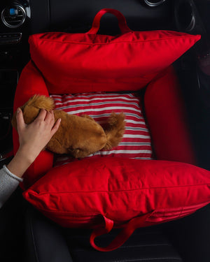 VOYAGE CAR COMFORT SEAT . RUBY RED
