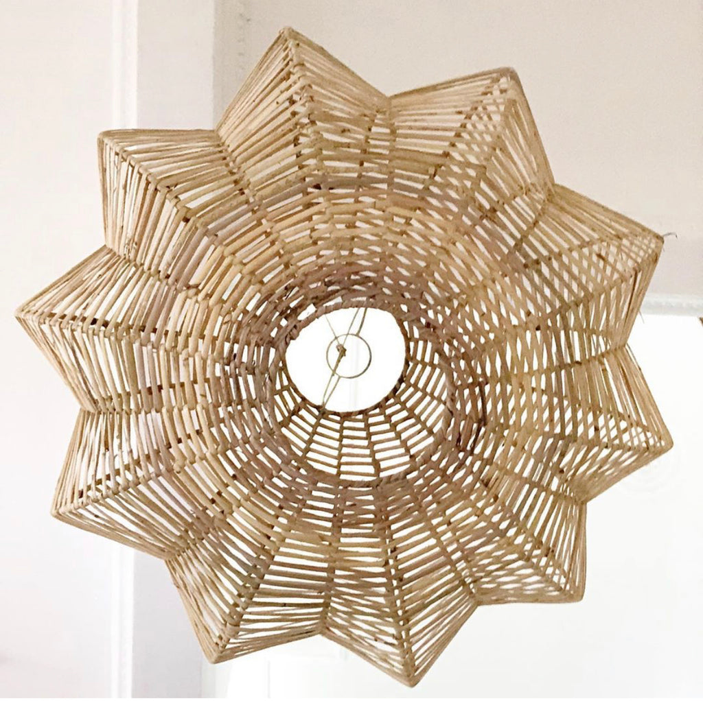 Rattan Sunshine Rouded Lamp