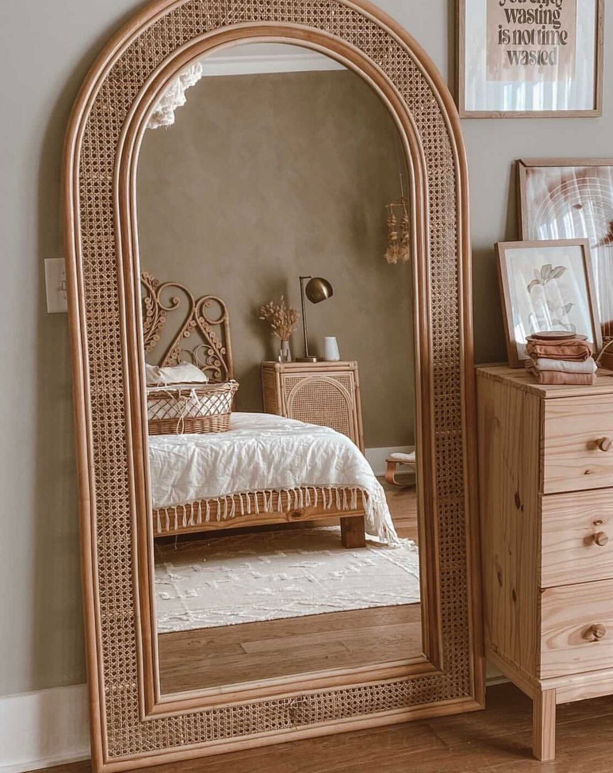 Lombok Arch Mirror Cane Pre Order