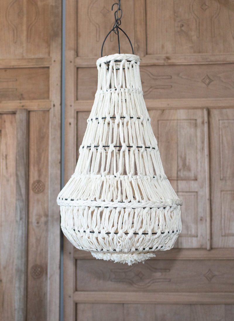 Hanging Macrame lamp Shade